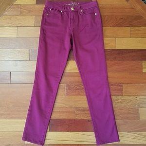 🔆Celebrity Gold Magenta Skinny Jeans